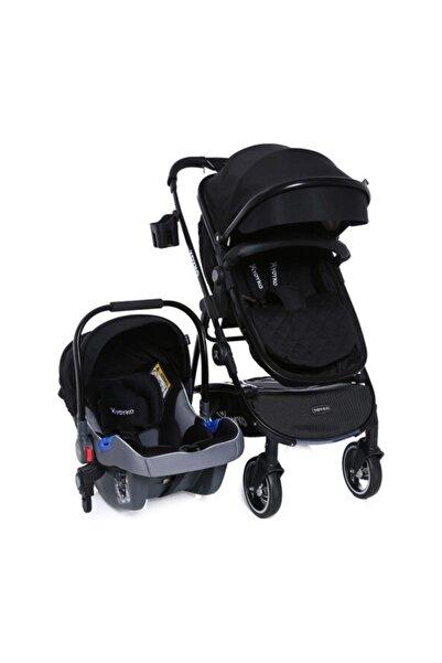 City Seyahat Sistem Bebek Arabası 3 In 1 Siyah