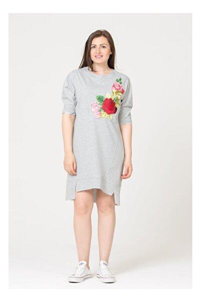 GİZİA Çiçek Baskılı Spor Tunik Elbise