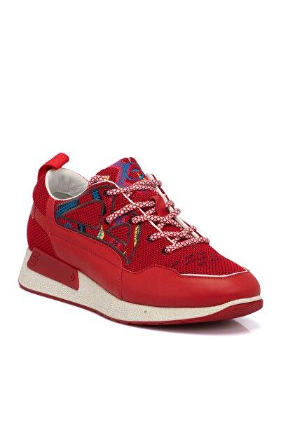 Tergan Kırmızı Deri Erkek Ayakkabı 54296o6p