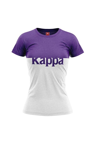 Kappa Kadın Baskılı T-shirt Batız Mor