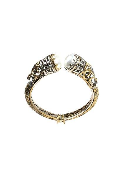 925 Ayar Gümüş Konstantinapol Tasarım Incili Bilezik