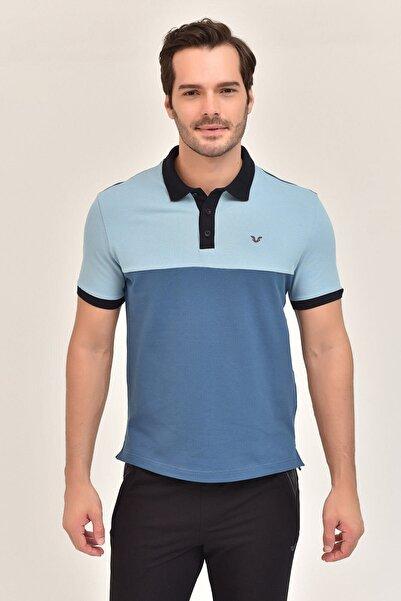 bilcee Mavi Erkek Polo Yaka T-Shirt GS-8980