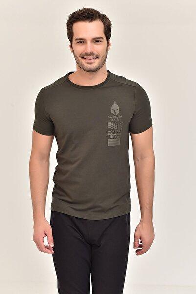 Haki Pamuklu Erkek T-Shirt EW-3328