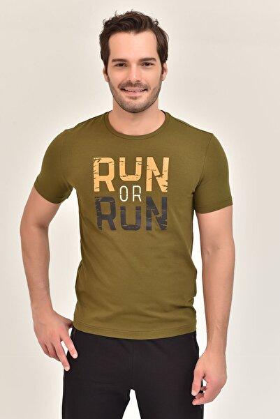 bilcee Yeşil Pamuklu Erkek T-Shirt ES-1362