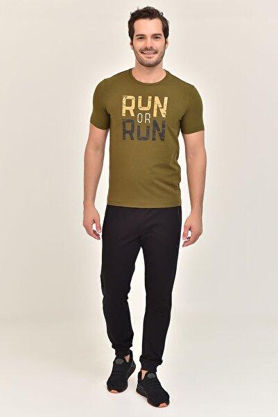 Yeşil Pamuklu Erkek T-Shirt ES-1362