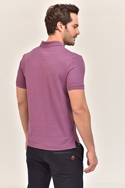 Mor Erkek Polo Yaka T-Shirt GS-8982