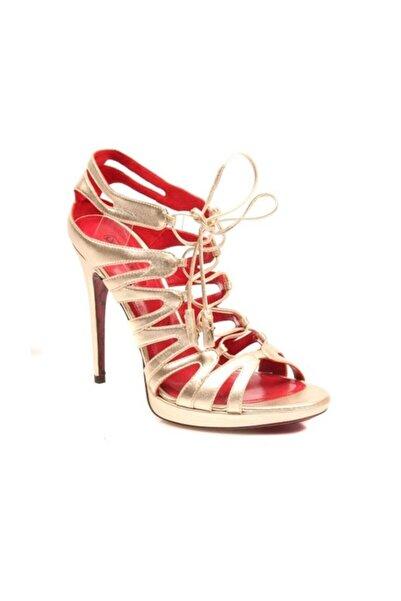 Cesare Paciotti Kadın Topuklu Sandalet Altın 117210