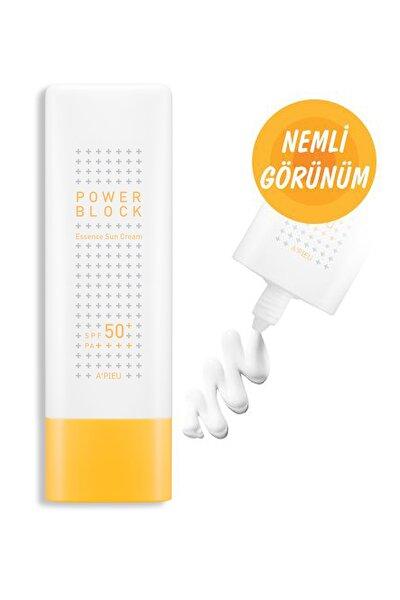 Nemlendirici Güneş Kremi - A'PIEU Power Block Essence Sun Cream SPF50+ 15g 8809530038543