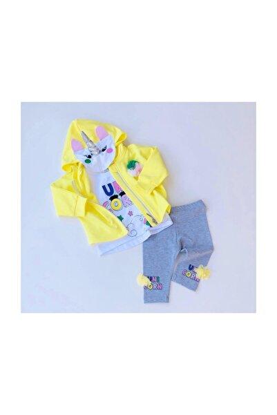 İmaj Kız Bebek 3'lü Eşofman Takımı - Bebek Doğum Hediyesi 1003078