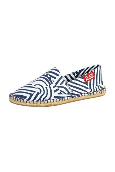 EA7 Emporio Armani Erkek Spor Ayakkabı Koyu Mavi Beyaz 6p277