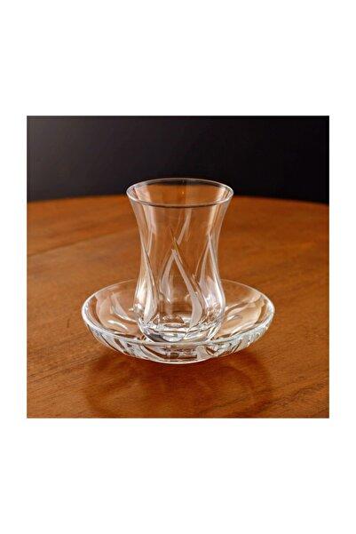 Kristal Huma 6 Kişilik Dekoratif Çay Bardak Takımı