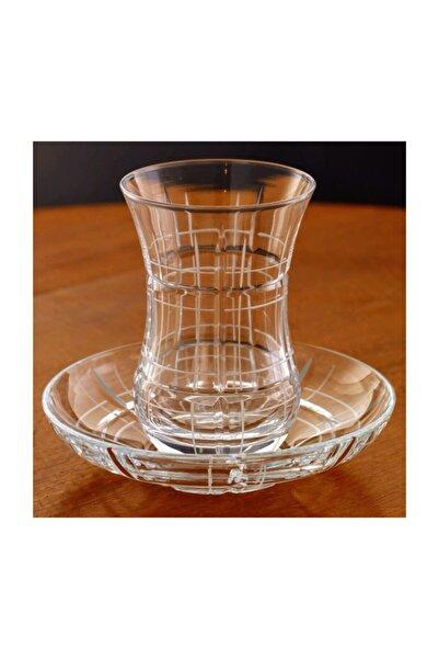 Kristal Nergis 6 Kişilik Dekoratif Çay Bardak Takımı