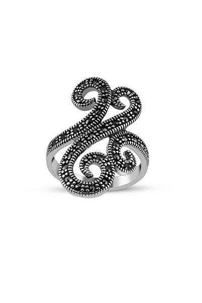 Tesbihane 925 Ayar Gümüş Kadın Sarmaşık Yüzük