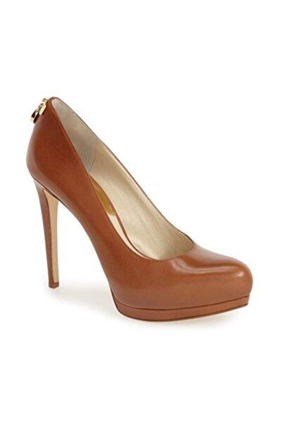 Michael Kors Kadın Hamilton Topuklu Ayakkabı Kahverengi 40r5hahp3l