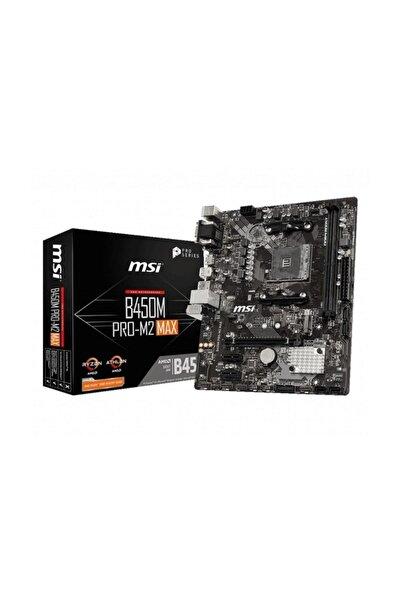 MSI B450m Pro-m2 Max Amd B450 Soket Am4 Ddr4 3466(oc)mhz Matx Gaming Anakart
