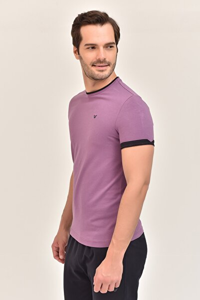 bilcee Mor Pamuklu Erkek T-Shirt ES-2374