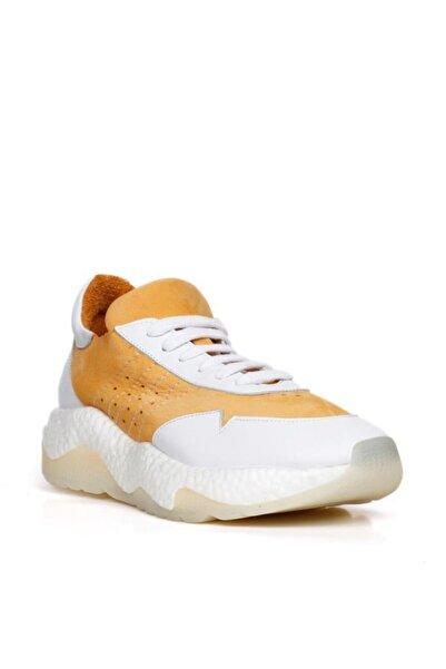 BUENO Shoes Hakiki Deri Yanları Nokta Detaylı Bağcıklı Erkek Spor Ayakkabı 20mq5200