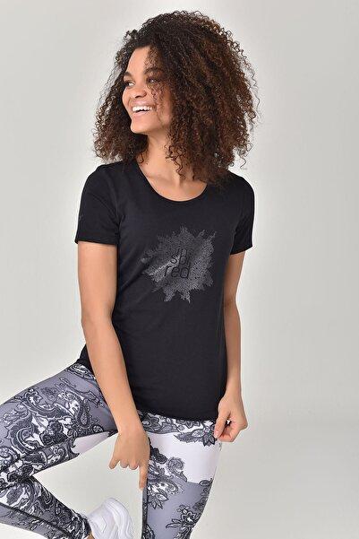 bilcee Siyah Büyük Beden Kadın T-Shirt GS-8131