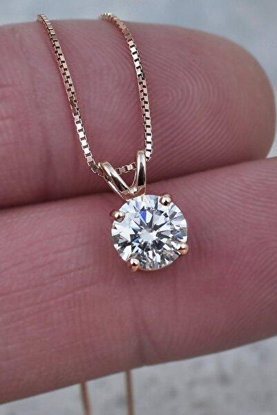 Crystal Diamond Zirconia Labaratuvar Pırlantası 1 Carat Tektaş Kolye