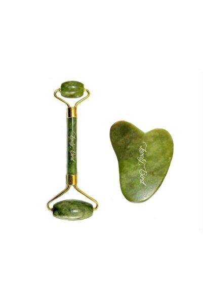 Lovelybird Jade Roller Ve Gua Sha %100 Orijinal Yeşim Taşı Yüz Masaj Rulosu