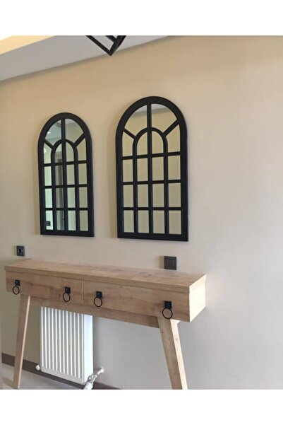 Dekoratif Boyalı Pencere Ayna