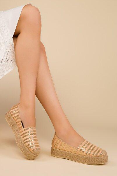 SOHO Altın Sım Kadın Casual Ayakkabı 14991