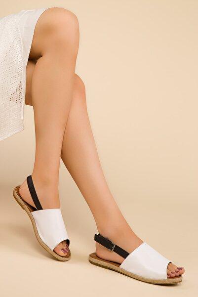 SOHO Beyaz Kadın Sandalet 15001