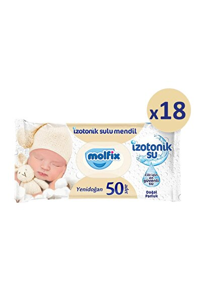 Molfix Yenidoğan Izotonik Islak Mendil 18 Paket X 50 Yaprak- 900 Yaprak