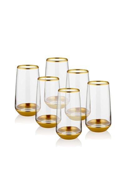 The Mia Glam Su Bardağı Uzun 6 Parça- Gold
