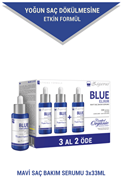 Blue Saç Bakım Serumu 3x33 ml (3 al 2 öde) - Mavi Su 8699349130855