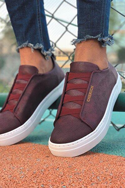 Chekich Bt Erkek Ayakkabı Bordo Ch013