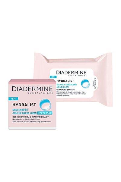 Diadermine Hydralıst  Nemlendirici Bakım Kremi İpeksi Doku 50 ml +Makyaj Temizleme Mendilleri 25 Adet