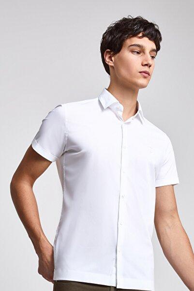 Twn Beyaz Renk Erkek  Gömlek (Slim Fit)