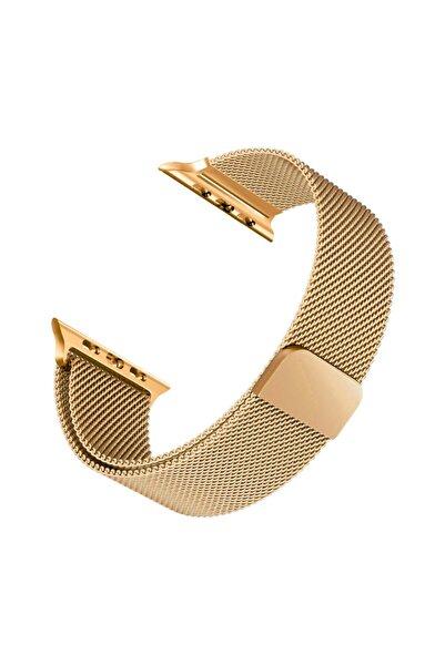 Microsonic Apple Watch 3 42mm Milanese Loop Version 3 Kordon Gold