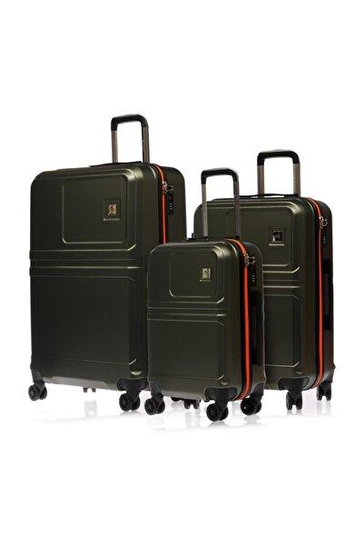 lumberjack Haki Yeşili Unisex 3 Lü Set Valiz & Bavul Lmvlz7515-Set