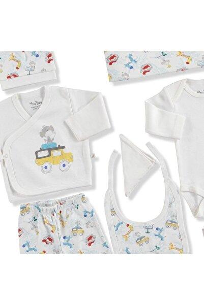 20939 Arabalı Pamuklu Erkek Bebek 10'lu Hastane Çıkışı