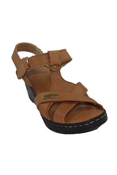 PUNTO 395007 Kadın Dolgu Topuk Sandalet -  - Taba - 38