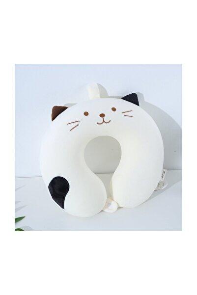 YOYOSO Sevimli Hayvan U-Tipi Yastık Beyaz