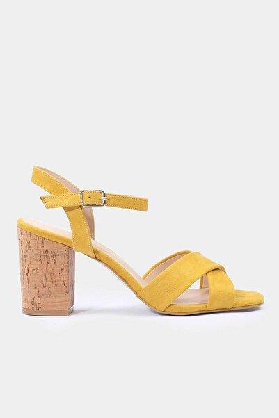 Hotiç Hardal Kadın Topuklu Sandalet
