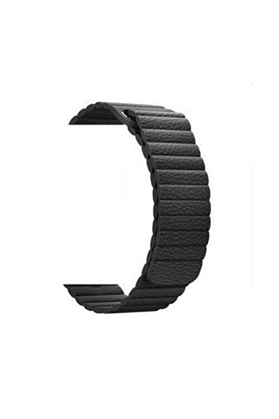 Schulzz Apple Watch Seri 1-2-3-4-5 Premium 42-44 Mm Hakiki Deri Kordon Sıyah