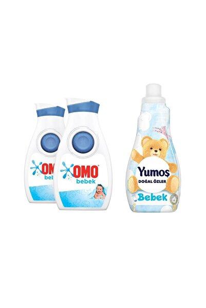 Omo Bebek Hassas Ciltler Için Sıvı Çamaşır Deterjanı X 2 Adet + Yumoş Sensitive 1200 ml