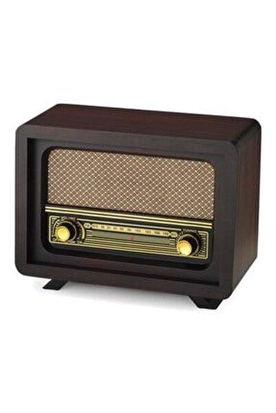 Nostaljik Ahşap Radyo Beyoğlu Kahve Adaptör