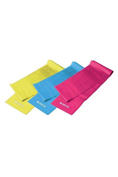 Delta 3'lü Pilates Bandı Plates Egzersiz Direnç Lastiği Seti Plts-bnt-90cm