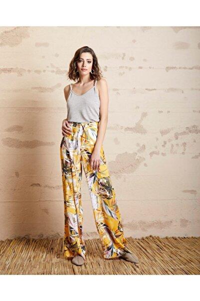 SERPİL Floral Desenli Pantolon