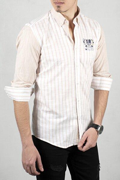 DeepSEA Beyaz-bej Uzun Kol Gömlek 2006049