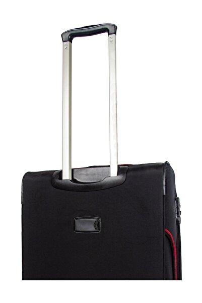 Orta Boy 8 Tekerlek Kumaş Valiz Bavul