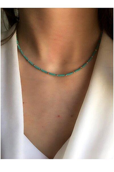 Serpil Jewellery Kadın Turkuaz Doğaltaşlı Tasarım Kolye