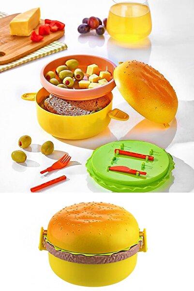 Helen's Home Hamburger Görünümlü Beslenme Kutusu Saklama Kabı