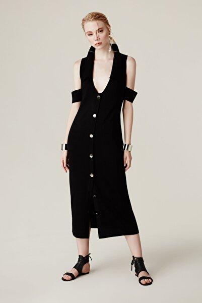 House of OGAN Kadın Siyah Okapi Knit Elbise