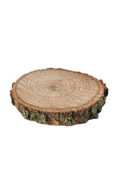Çikolata Shop Ağaç Kütük Dilim Yüzük Yükseltici Doğal Odun Magnetlik Yuvarlak Kütük 50 Adet